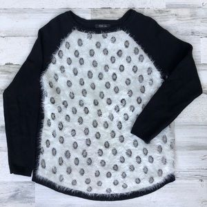 Style & Co leopard print fuzzy pullover sweater